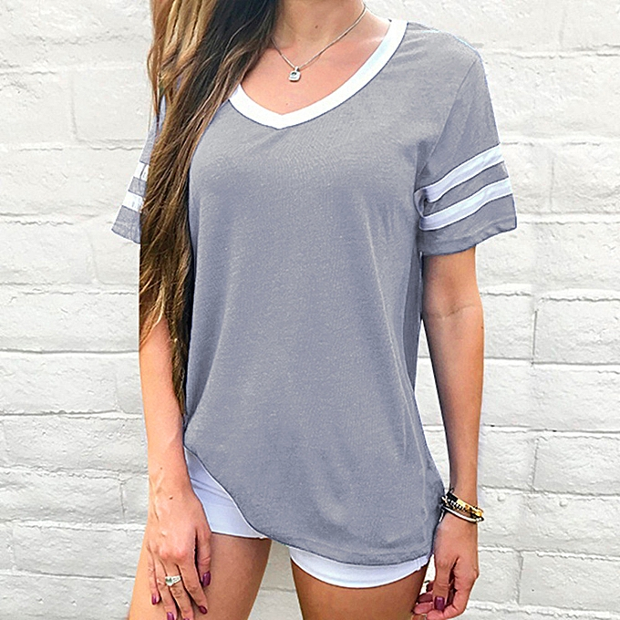 987f1576884354 birthpar store Womens Ladies Summer O Neck T-shirts Casual Loose Tops  Blouse Tee-