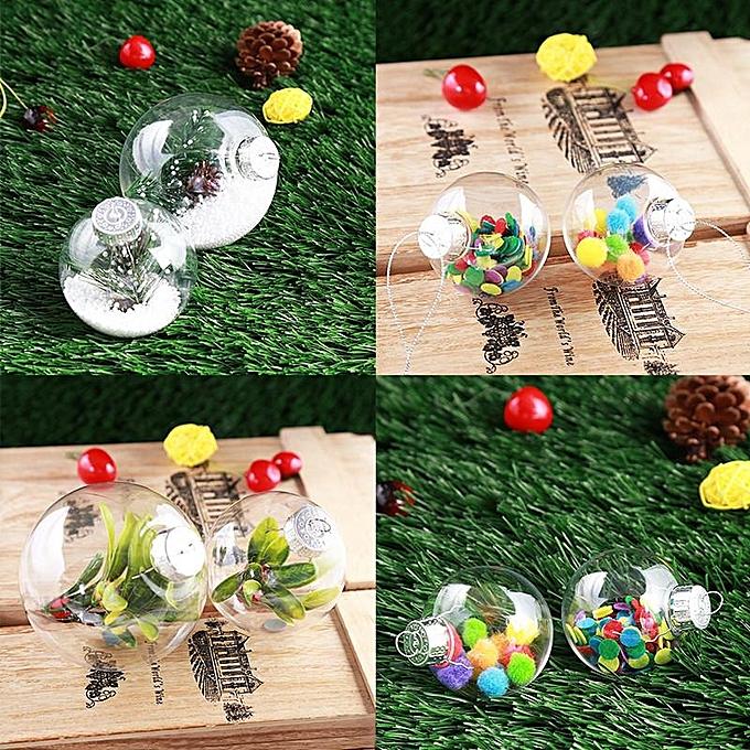 Buy Generic Super Clear Plastic Balls Diy Christmas Tree Hanging