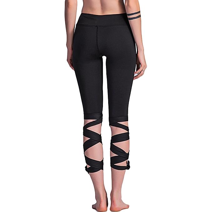 ... Fashion Women Lace Up Ballet Dancing Leggings High Waist Push Up  Fitness Skinny Pants Pantalon Workout ... 18e19399d1c