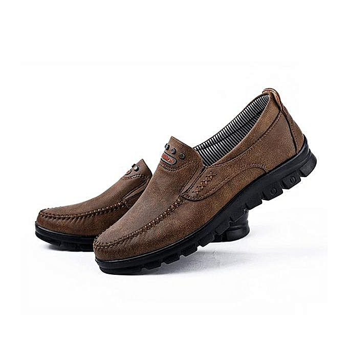 88d4429288e ... Fashion Large Size Men Comfy Microfiber Fabric Soft Slip On Casual  Loafers Flat Shoes-EU ...