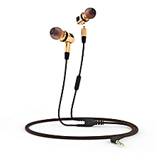 X46M Detachable HiFi Earphones With MIC(GOLDEN)