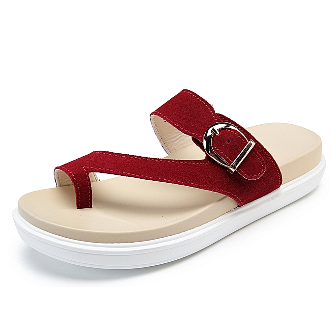 770bbbabc19cc7 Fashion Beach Buckle Clip Toe Flat Flip Flops Sandals   Best Price ...