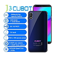 Cubot J3 3G Smartphone 5.0 inch Android GO MT6580 Quad Core 1.3GHz 1GB RAM 16GB ROM-BLUE
