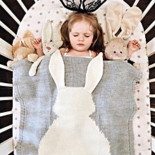 Cute Knitted Rabbit Baby Blankets Infant Soft Warm Wool Swaddle Kids Bath Towel Lovely