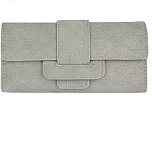 Ladies Purse Wallets Long Wallet -  Grey