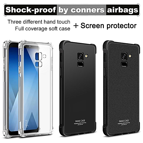 buy online 7c0de 8d812 Case Airbag Cover Shockproof Back Cover For Samsung Galaxy A8 2018 Case  Soft Silicone Cover For Samsung A8 2018 TPU