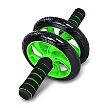 Two-wheel Fitness Ab Wheel Roller Equipment Abdominal Training Machine For Home Gym Core Exercises - Black + Green