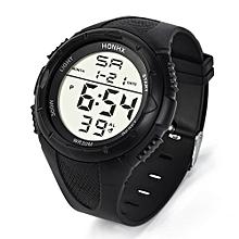 Blicool Wrist Watch Fashion Men's LED Digital Alarm Sport Watch Silicone Military Army Quartz Wristwatch-black