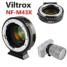 Viltrox NF-M43X 0.71x Focal Reducer Turbo Booster for Nikon F Lens to M43 Camera