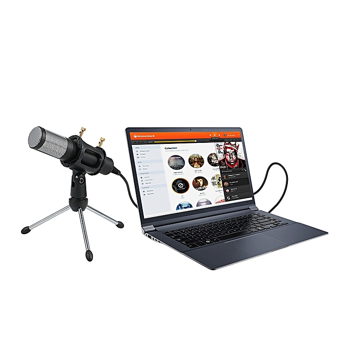 generic professional condenser microphone usb plug and play home studio podcast vocal recording. Black Bedroom Furniture Sets. Home Design Ideas