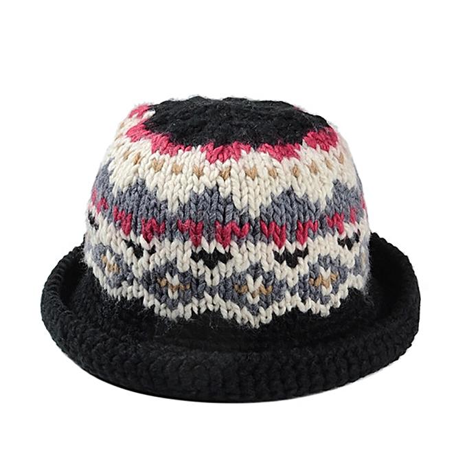 Buy Sanwood Women Winter Vintage Pattern Handmade Warm Knitted Hat
