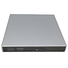 USB 2.0 DVD Combo Mobile External CD-RW Burner Drive CD For PC Computer silver