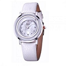Classic White Wrist Watch + Free Gift Box