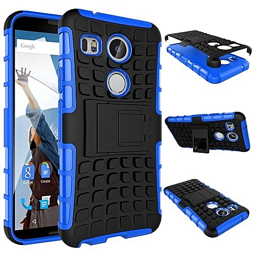 reputable site 86f4c 31bff For LG Nexus 5X Case, Hard PC+Soft TPU Shockproof Tough Dual Layer Cover  Shell For 5.2