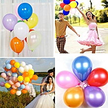 Balloons Air Balloon Colorful 100pcs Round Festival Holiday Toys Wedding