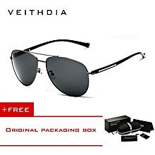 b13dfd4207f VEITHDIA Men Polarized Sunglasses Vintage Pilot Glasses drive eyeglasses  2708 XYX-S