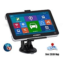 "XGODY 7"" Inch Car GPS Navigation Sat Nav Mp3 Mp4 FM New Map 8GB 128RAM+Sunshade"
