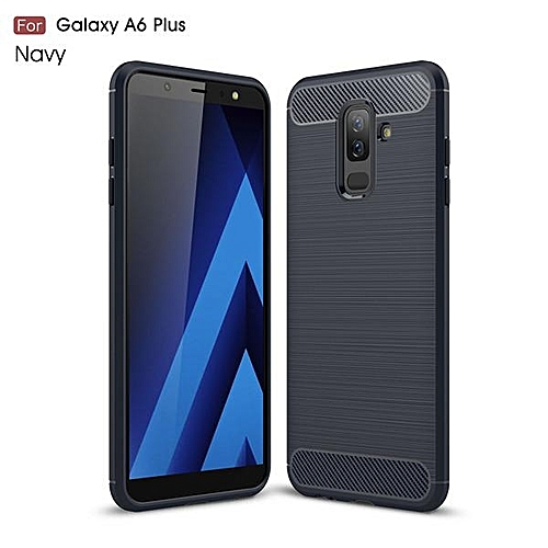 new arrival 7d1a8 332b9 For Samsung A6 Plus Case Soft Silicon Case TPU Cover Carbon Fiber Case For  Samsung Galaxy A6 Plus 2018 Phone Case Back Cover