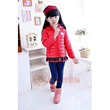 Hooded Jacket - Baby Girls Warm Winter Coat