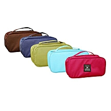Travel Portable Holder Cosmetic Bag Pouch Underwear Luggage Storage Organizer-Brown