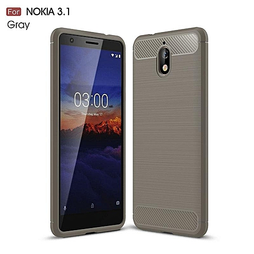 save off 648af 09fdc For Nokia 3.1 Case Carbon Fiber Mobile Covers Soft Celular ZGAR Men Women  Phone Bags Cases For Nokia 3.1 5.2 inch Silicon