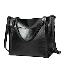 Africanmall store Women Bag Casual Vintage Shoulder Bag Tote Purse Large Capacity Bags -black