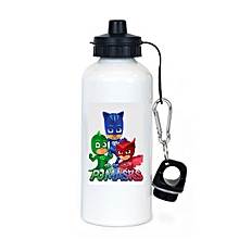 PJ MASKS cartoons branded aluminum water bottle -  minimum order is 1 bottle