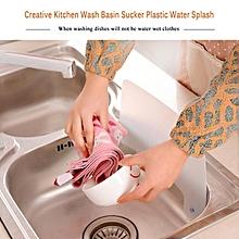 Newest 1Pcs New Creative Kitchen Wash Basin Sucker Plastic Water Splash Guards Dish Washing Baffle Sink Board YDD02042