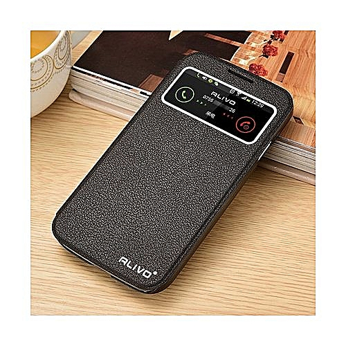 best service 5444c 97d85 For Samsung Galaxy S4 / 9500 View Window Flip Leather Cover Case Luxury Pu  Leather Case(Black)
