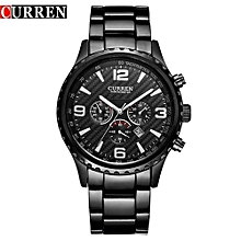 Watches, 8056 Luxury Casual Brand Men Sports Military Quartz Business Watch - Black