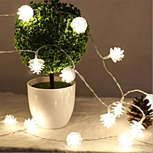 BRELONG LED Pine Cone Light String Decorative Romantic Lights 20LED-USB interface WARM WHITE
