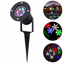 YK2281 1PCS 12W Holiday Decoration Waterproof Outdoor LED Stage Lights RGBW Christmas Laser Snowflake Projector Lamp AC 100 - 240V EU Plug-RGB