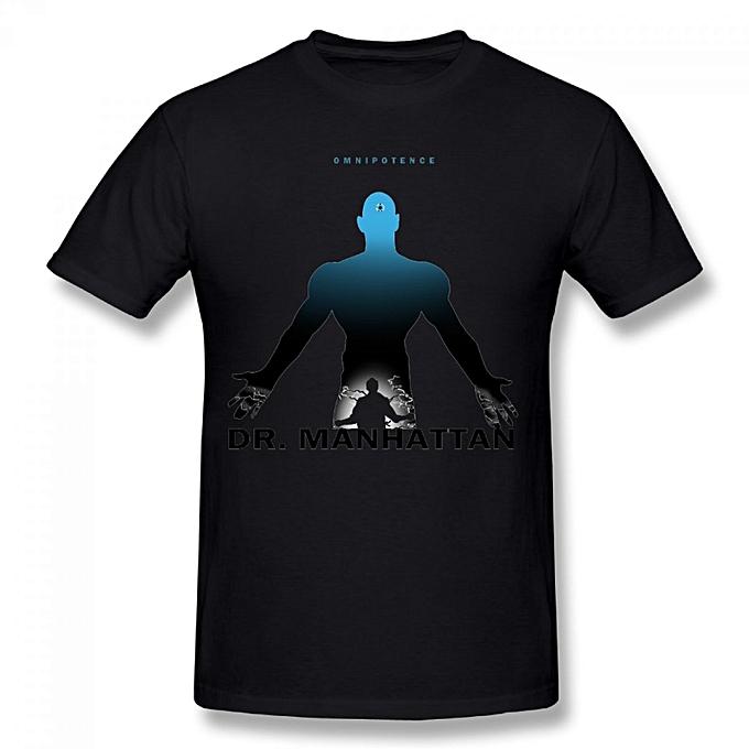9000ff9de Generic Dr Manhattan Men's Cotton Short Sleeve Print T-shirt Black ...