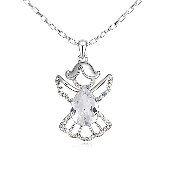 2e4a2fffa016 Adopt the Swarovski chemical element crystal necklace-the big artist lovely  girl mourn to fall