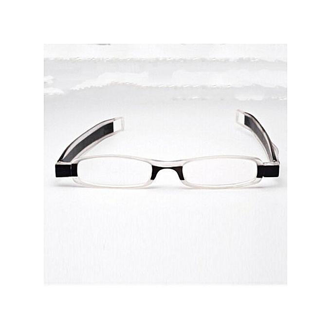 5c09d388147f Kakkater Spin Folding Anti-Fatigue Ultra-Light Resin Reading Glasses -  Black 350 Degrees