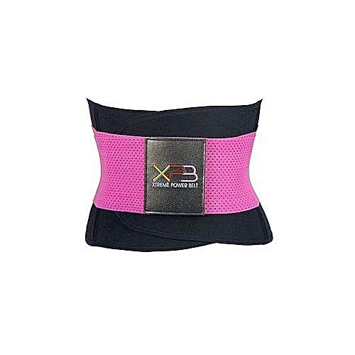 3e6bad031c584 Generic Waist Trainer Neoprene Shaper Belt - Pink Black   Best Price ...