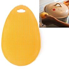 Water Drop Style Antibacterial Washing Brush Kitchen Dish Bowl Pot Cleaning Silicone Scouring Pad(Orange)