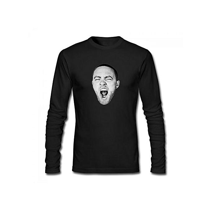 c3a4c6cde Generic GO,OD AM Mac Miller Men's Cotton Long Sleeve T-shirt Black ...