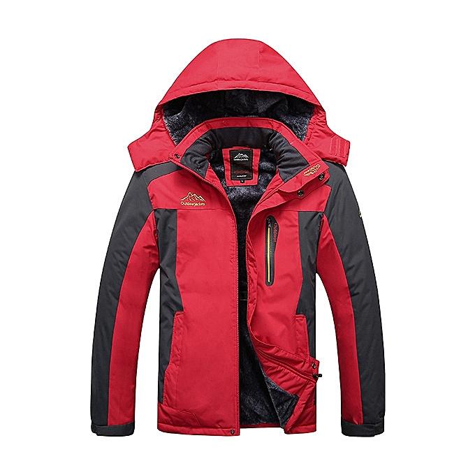 Mens Outdoor Waterproof Windproof Fleece Plus Thick Warm Mountaineering Jackets  Big Size S-7XL 1808d8ff0