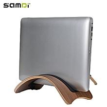 SAMDI Laptop Stand Computer Notebook Wood Holder Support for Mac Air