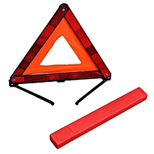OR Practical Car Triangle Sign Emergency Warning Foldable Reflective Tripod-red & Orange
