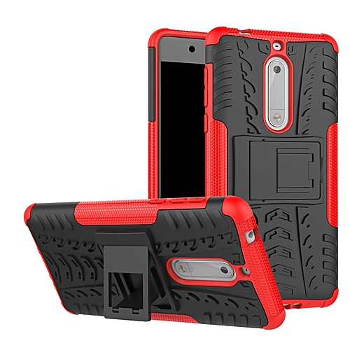 official photos 13ed4 3eb33 Case For Nokia 5 Cover 5.2 inch TPU & PC Stand Armor Shockproof Case  Anti-drop Cover For Nokia5 Back Cover capa