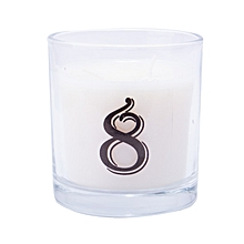 """Number """"8"""" Alphabet Scented candle - White"""