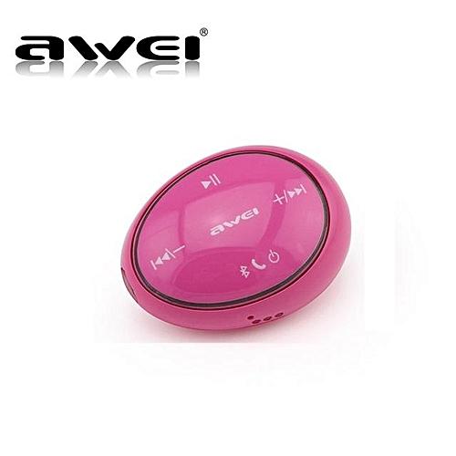 Awei Sport Wireless Headset In Ear Earphones Bluetooth Wireless Headset (Rose)