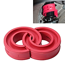 2 PCS Car Auto D Type Shock Absorber Spring Bumper Power Cushion Buffer, Spring Spacing: 22mm, Colloid Height: 43mm(Red)