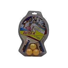 Table Tennis Set (2bats + 3balls): Sk2870: Super-K