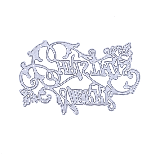 Metal Merry Christmas Letter Cutting Dies Stencil Cards Embossing Mould