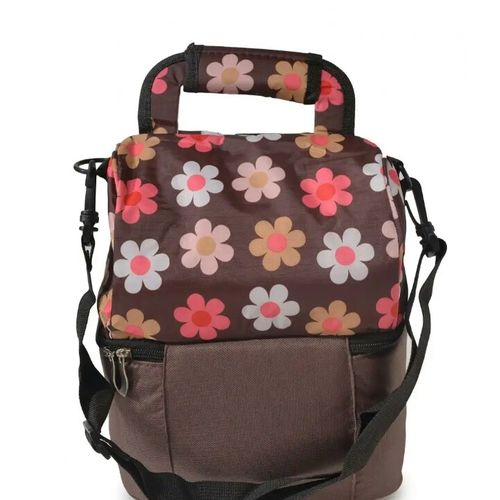 2 Compartment Thermal Insulation Hot & Cold Cooler Bag -  Brown