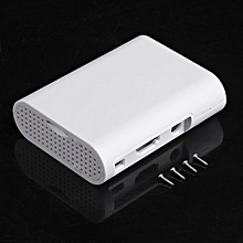 Plastic Protective Case Cover Shell For Raspberry pi 2 Enclosure Housing white