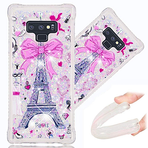 hot sale online da90d 524e6 Samsung Note 9 Case, 3D Cute Painted Glitter Liquid Sparkle Floating Luxury  Bling Quicksand Shockproof Protective Bumper Silicone Case Cover for ...